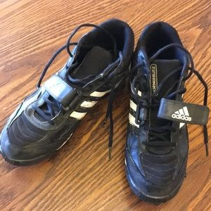 Adidas football cleats black/white shoes